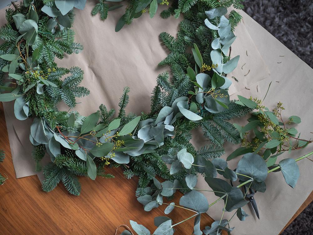 Joulukalenteri DIY joulukranssi 2 for living -blogi
