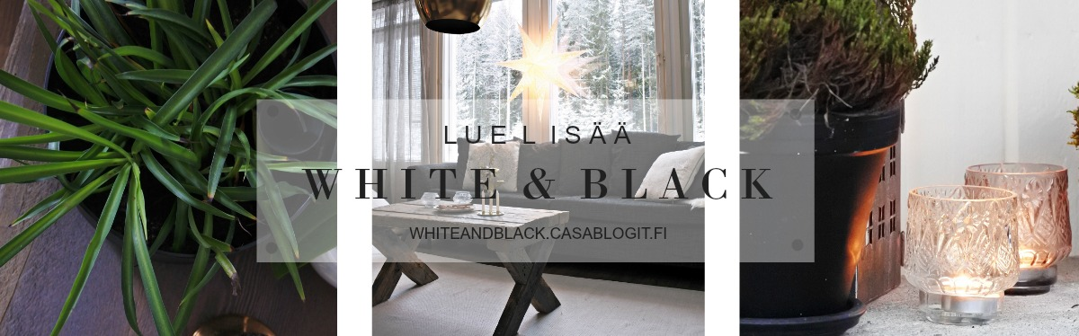 White and black blogi banneri